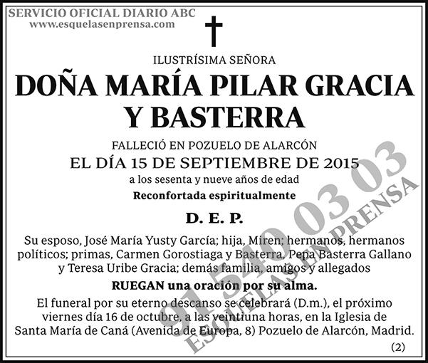 María Pilar Gracia y Basterra